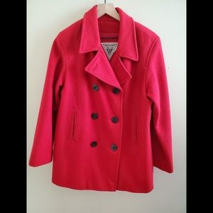 J. Percy for Marvin Richards Red Peacoat Size 12